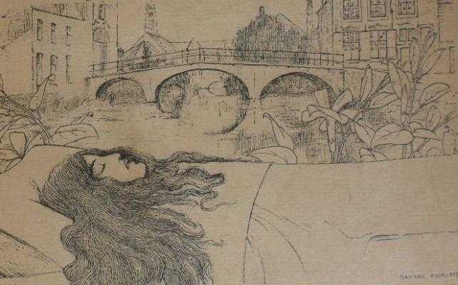 Frontispice de Fernand Khnopff.