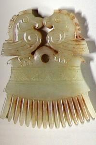 peigne chinois archaïsant en jade