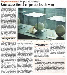 """article du 2012 09 28  sur l'exposition """"Dévoilement"""" à Nogent le Rotrou"""